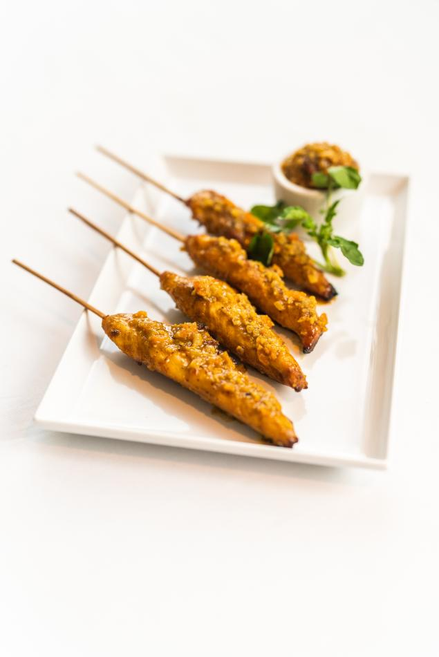 GF Satay Chicken Skewers
